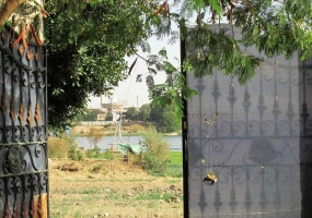 Land in front of the Nile  in El Ramla