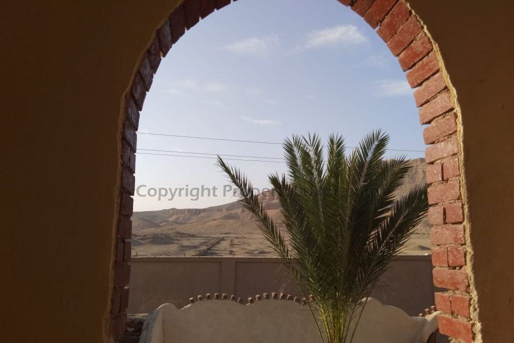 Nice mountain view in Medinet Habu